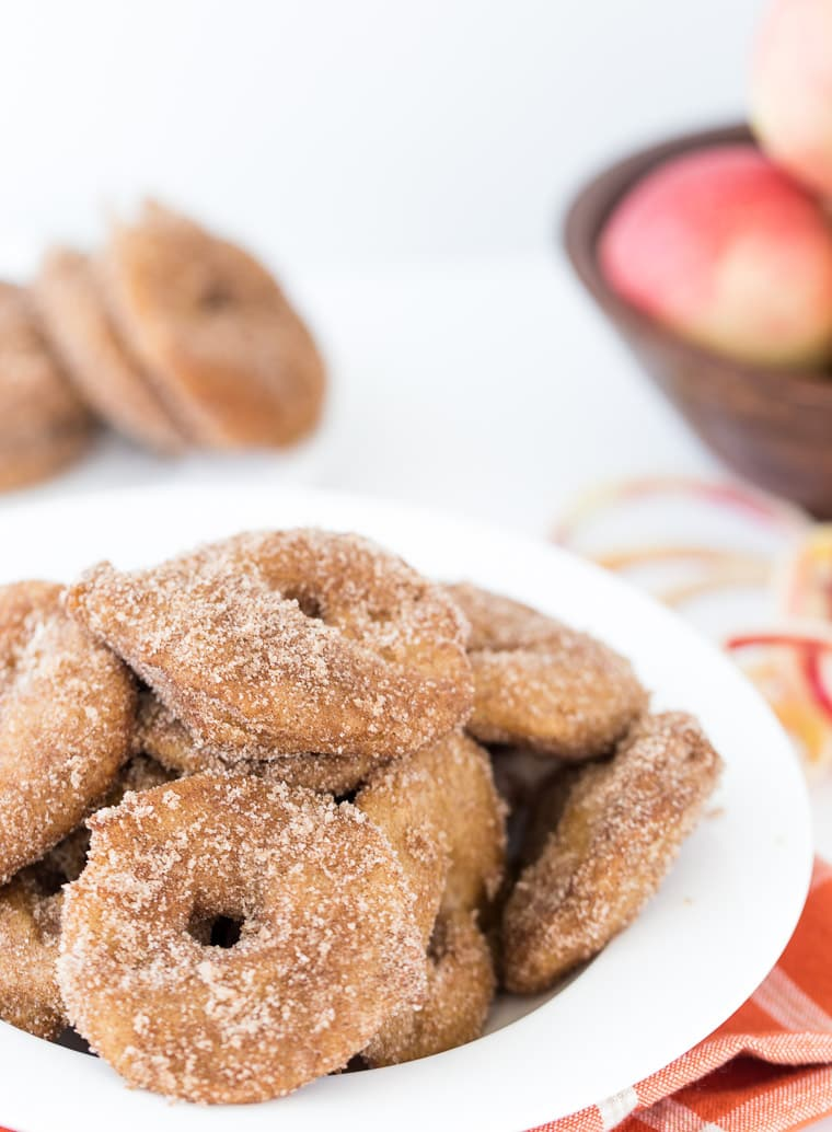 This homemade apple fritters recipe is delicious, crisp on the outside and sweet and gooey on the inside.