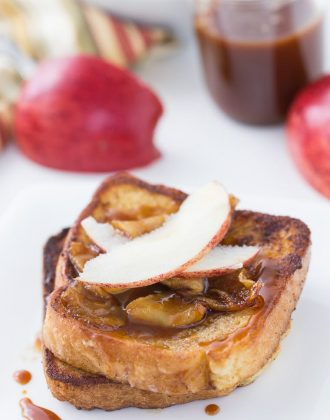 Coconut Apple Caramel French Toast