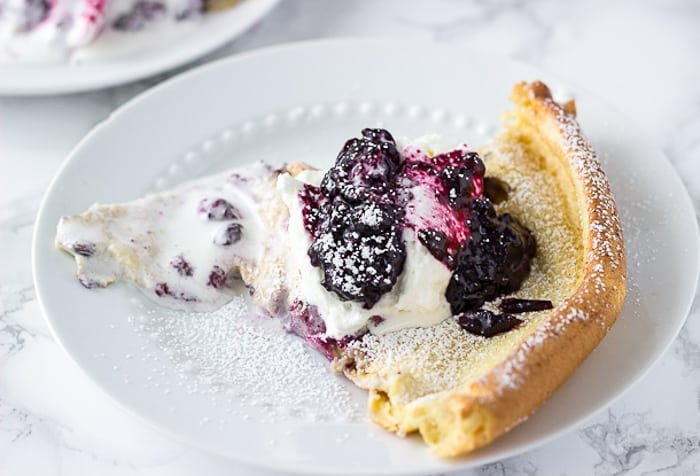 Blueberry Lemon Dutch Baby Pancake