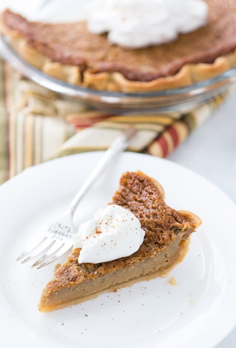 This brown sugar maple pie is all what you need in a holiday pie. It's got a sweet, smooth and caramelized filling that is worth every bite.