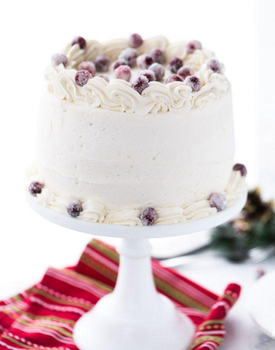 Eggnog Bourbon Cake
