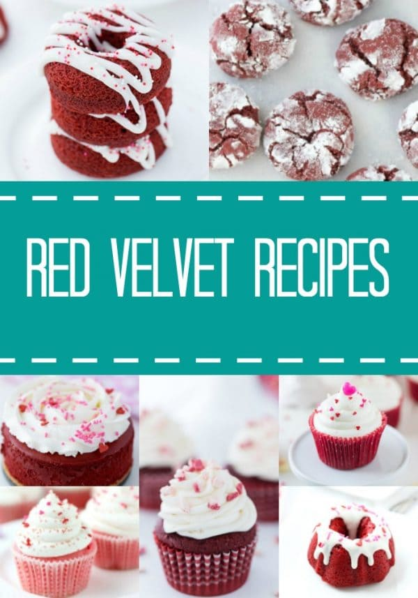 A collection of my favorite red velvet recipes just in time for Valentine's Day. From red velvet cheesecake to mini bundts, these classic recipes are a must.