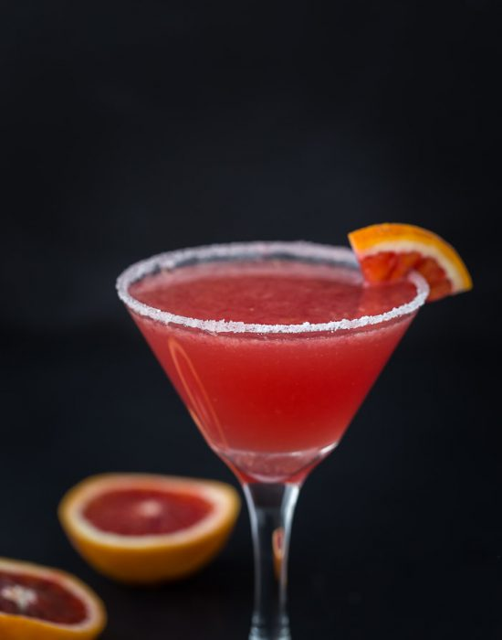 Blood Orange Vanilla Martini