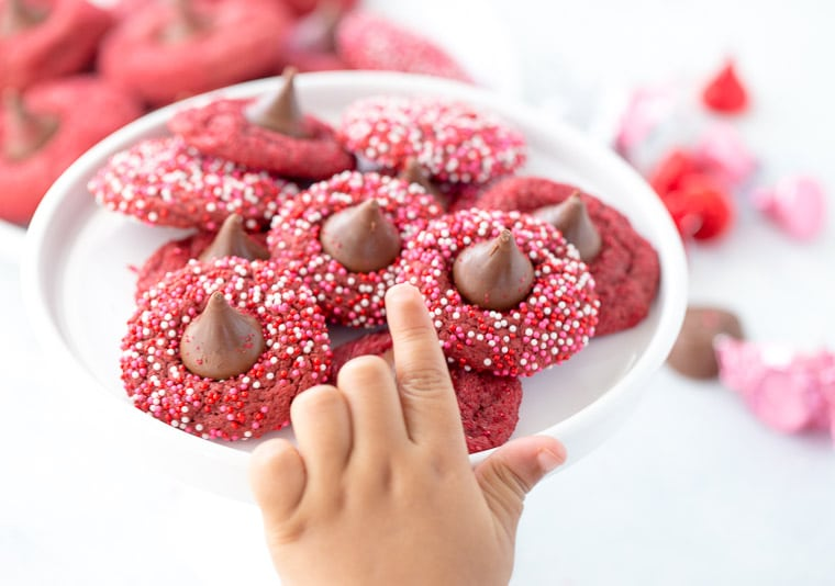 Red Velvet Blossom Cookies