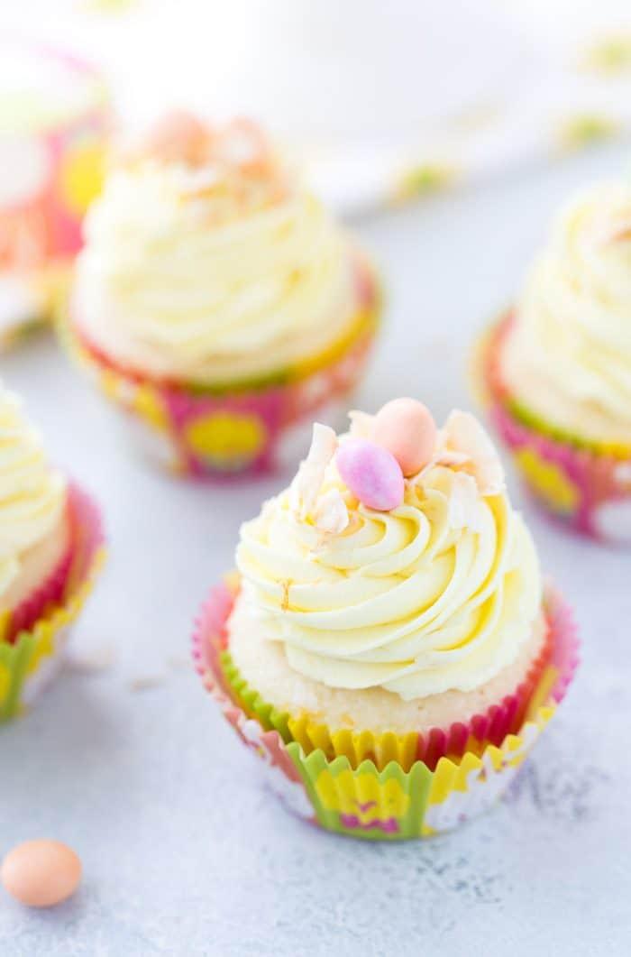 Meyer Lemon Coconut Cupcakes