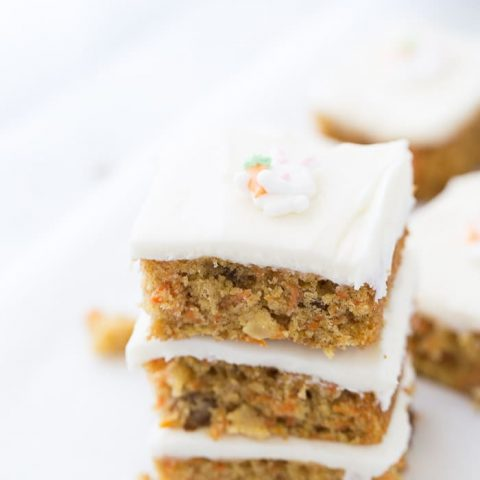 Carrot Cake Bars with Orange Cream Cheese Frosting