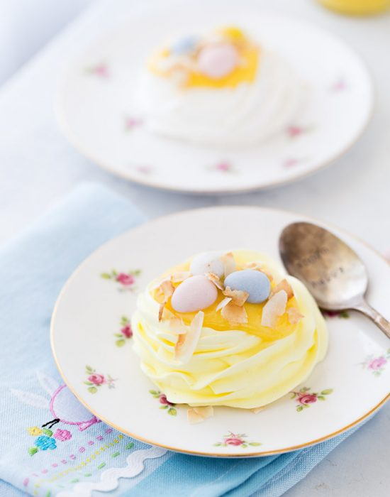 Coconut Meringue Nests
