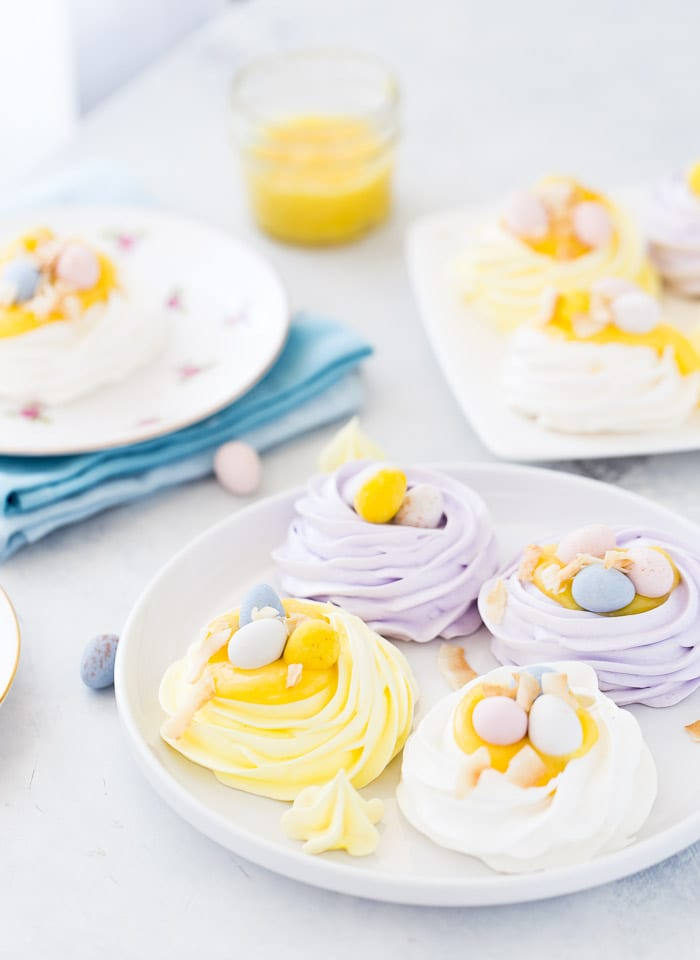 These Easter coconut meringue nests are insanely crunchy on the outside with a rich moist center.
