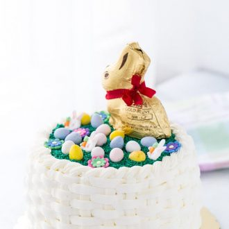 Easter Basketweave Cake