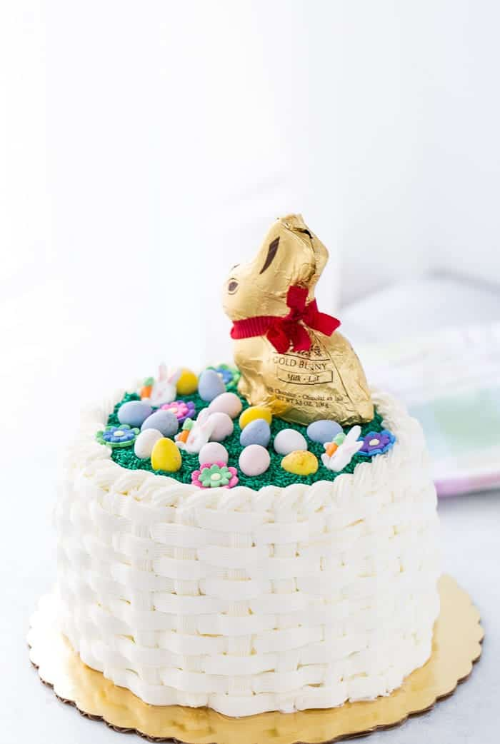 Wondrous Easter Basketweave Cake A Classic Twist Funny Birthday Cards Online Fluifree Goldxyz