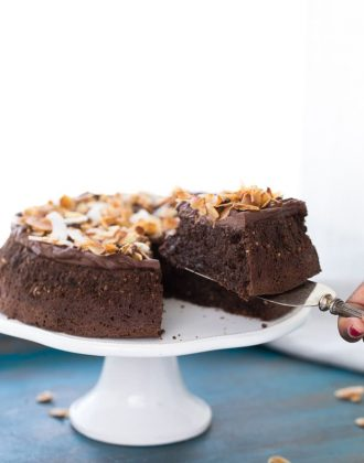 Flourless Chocolate Coconut Cake