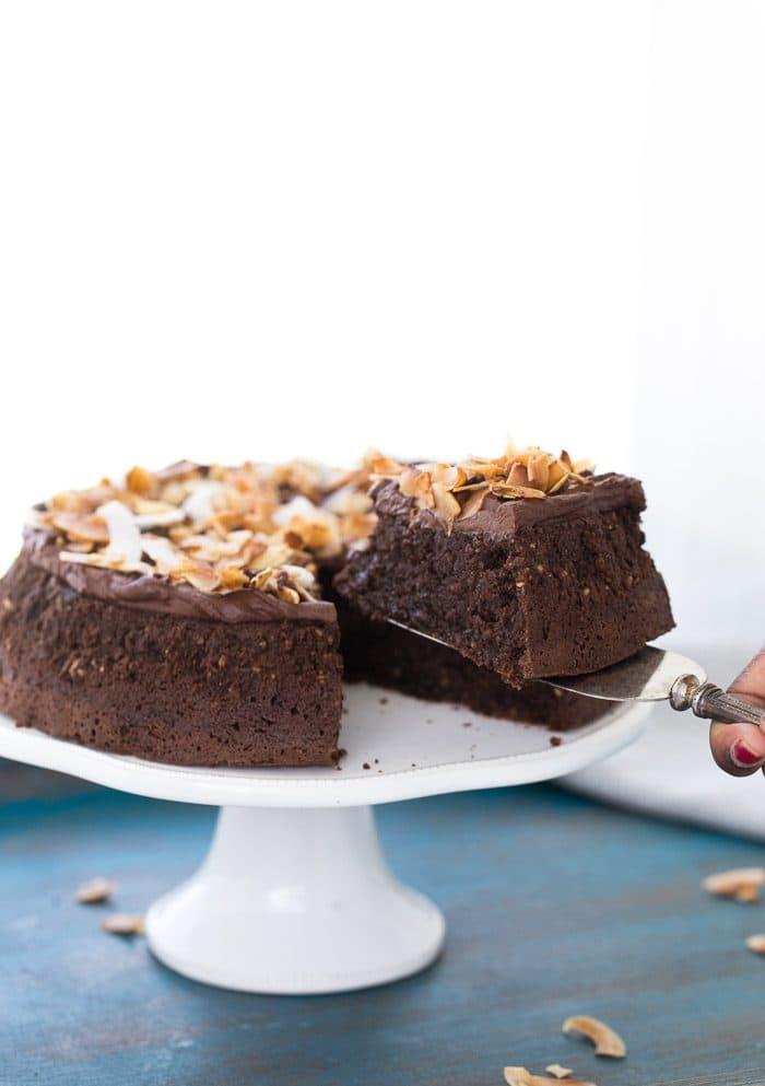 Flourless Chocolate Coconut Cake