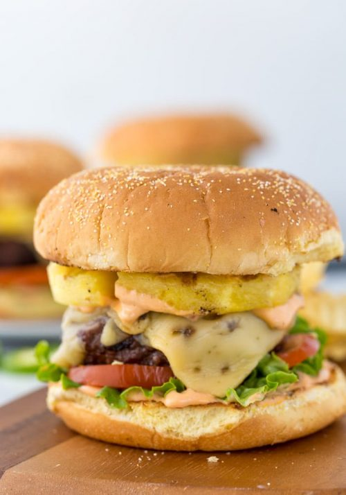 Pineapple Jalapeno Burger