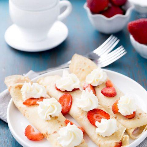 Strawberry Mascarpone Crepes