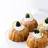 Blackberry Lime Mojito Cakes