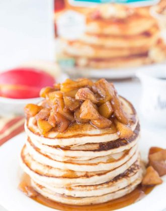 Apple Pie Protein Pancakes