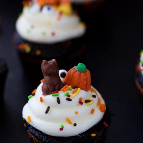 Chocolate Halloween Cupcakes