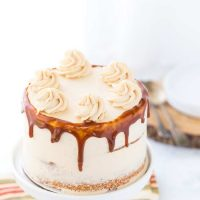 Brown Butter Cake with Maple Caramel Buttercream