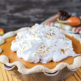 Sweet Potato Pie with Maple Marshmallow Topping
