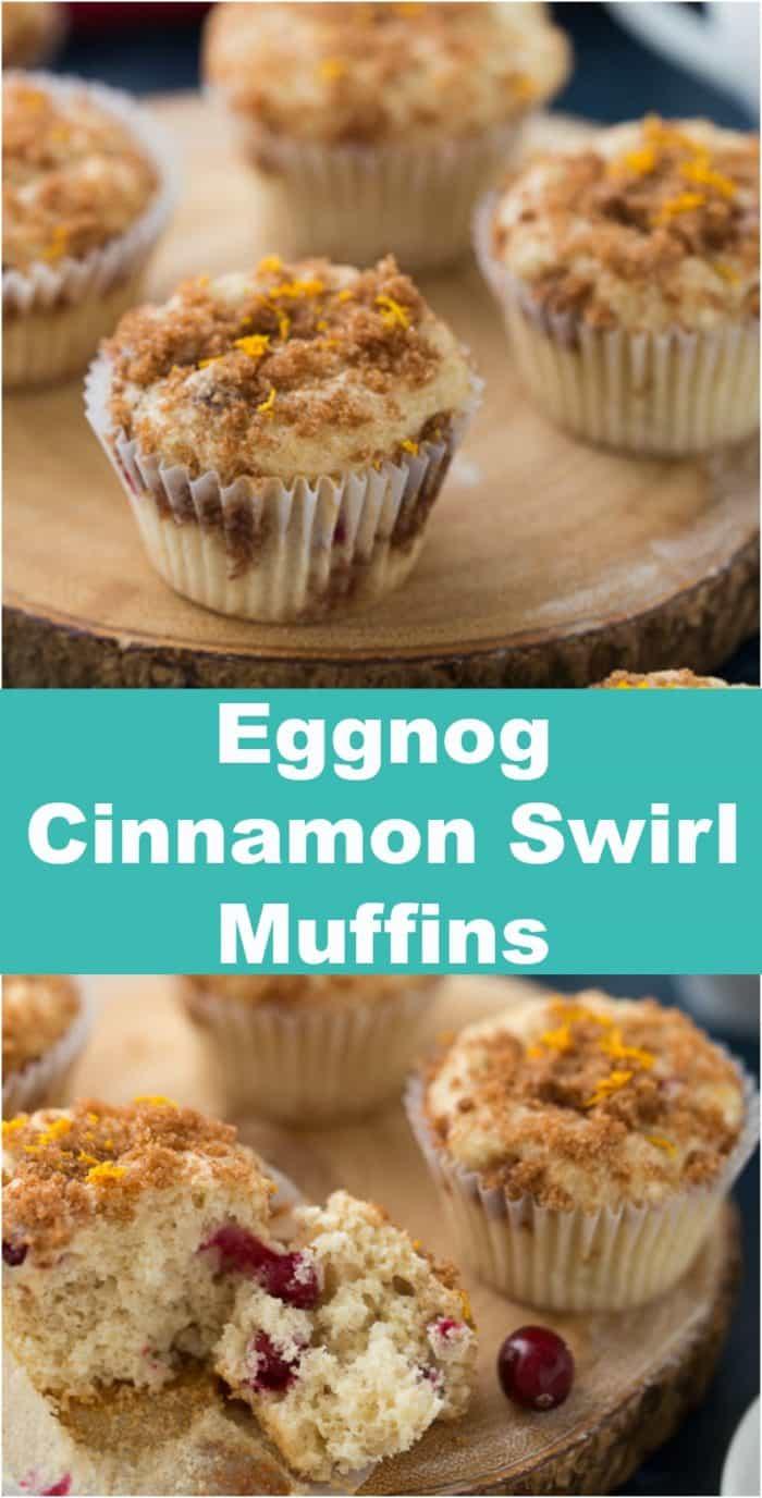 Eggnog Cinnamon Swirl Muffins
