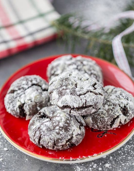 Mexican Chocolate Crinkle Cookies