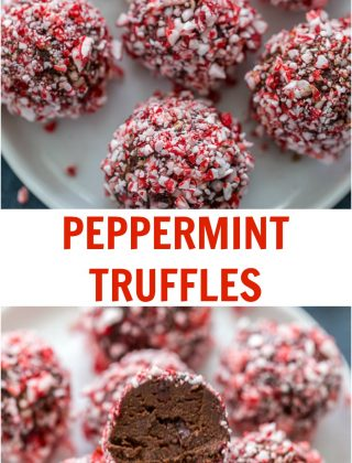 For a sweet indulgent holiday treat, try these peppermint truffles. They are smooth, indulgent and perfect for any holiday season cookie exchange.