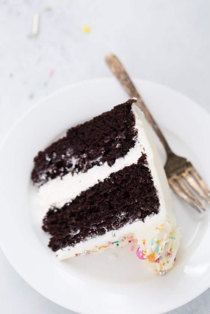 chocolate cake with vanilla buttercream