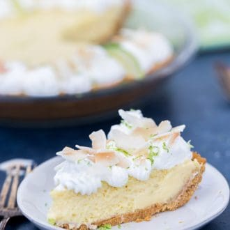 Coconut Key Lime Pie