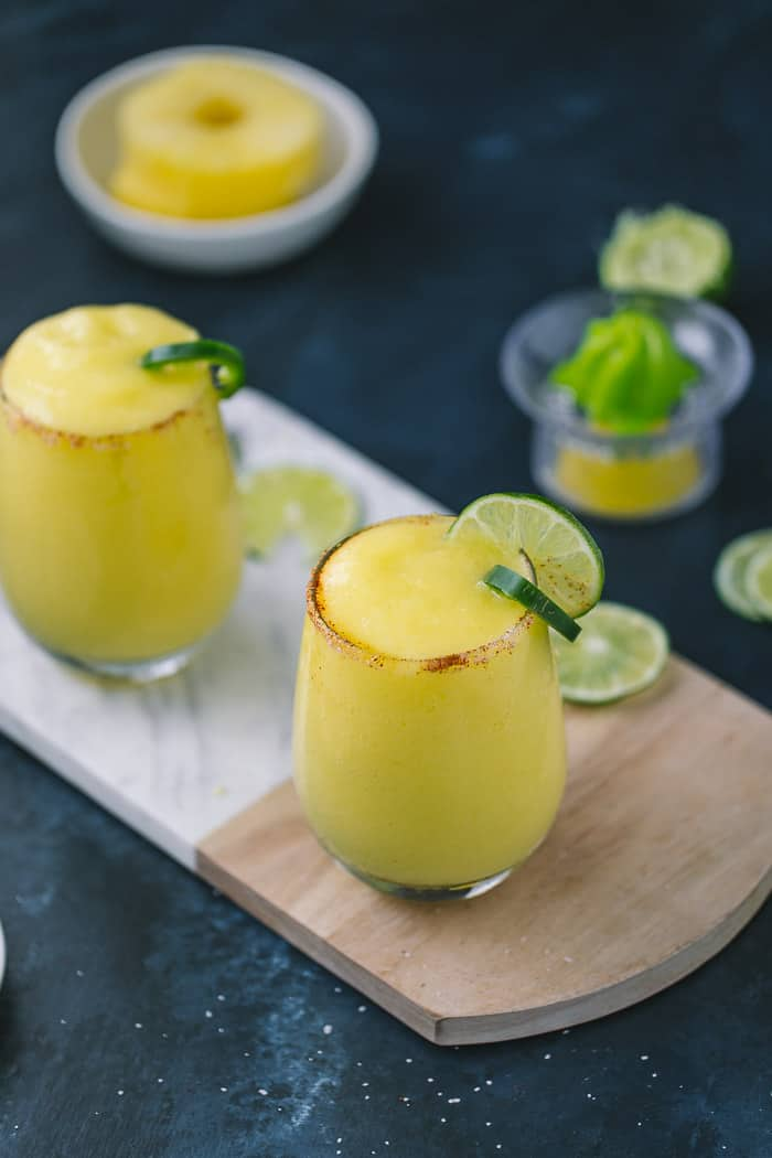 Frozen Pineapple Mango Margaritas