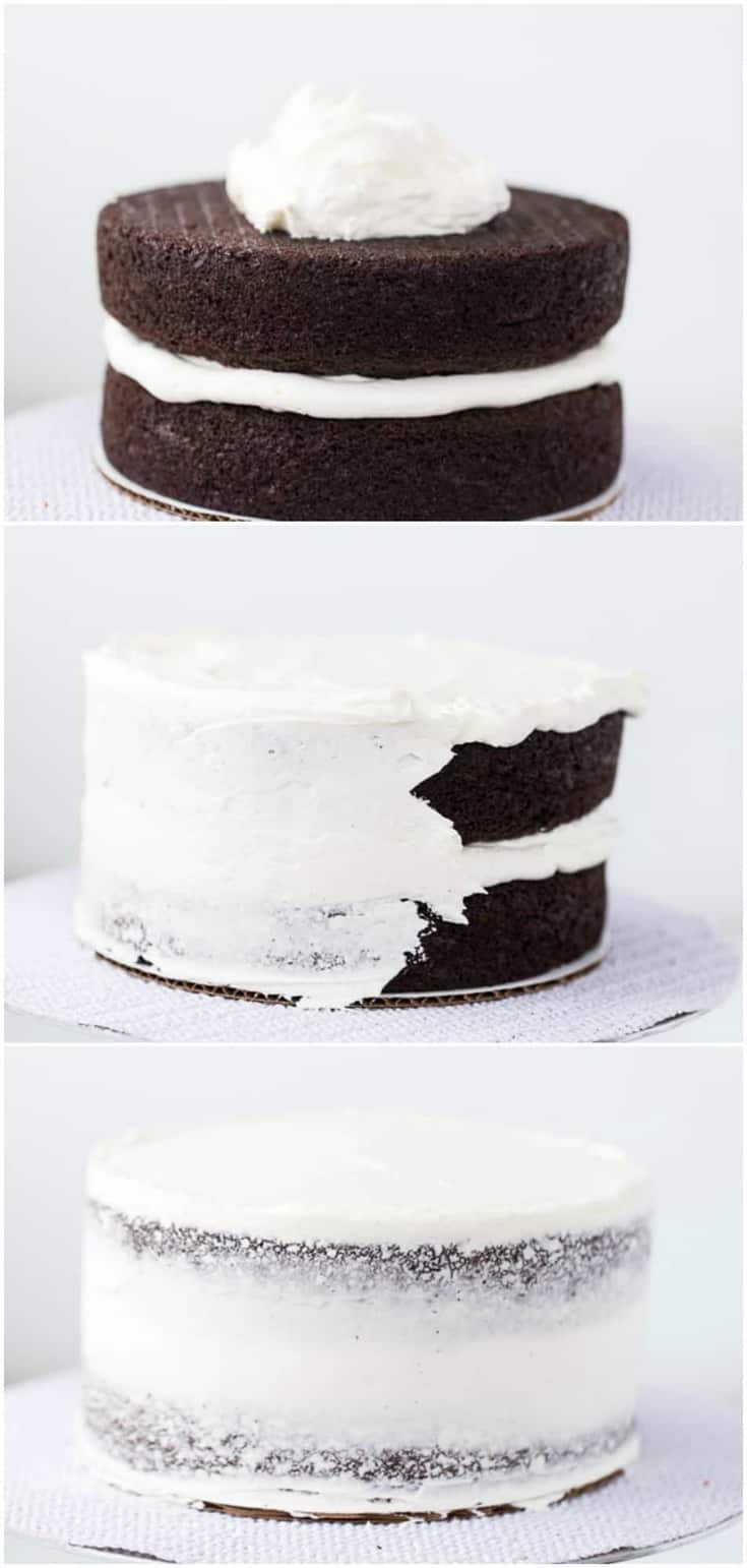 A step-by-step tutorial with pictures on how to frost a layered cake. I walk you through the basic steps in frosting a layered cake and provide the tools you will need.
