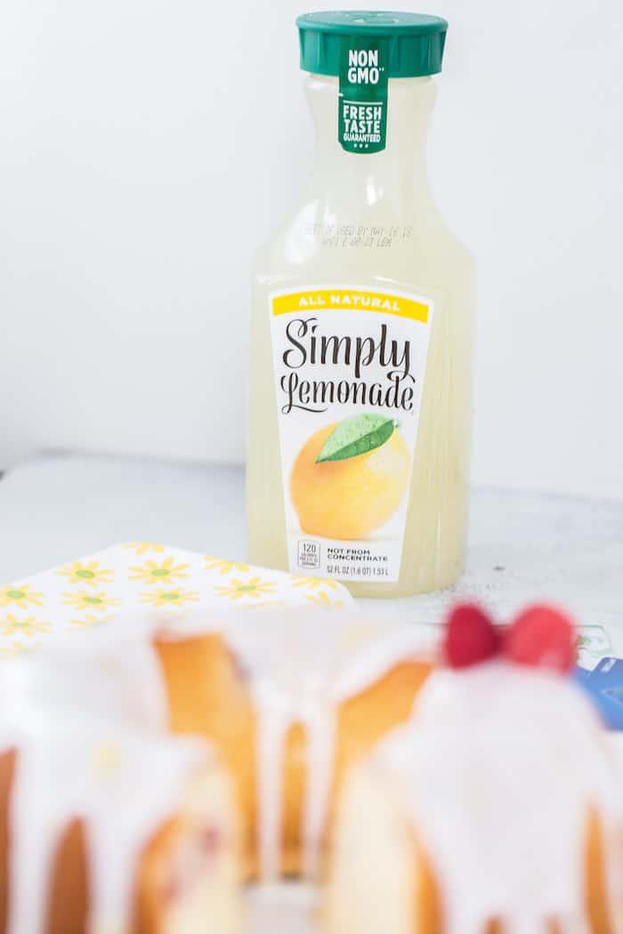 Raspberry Lemonade Pound Cake