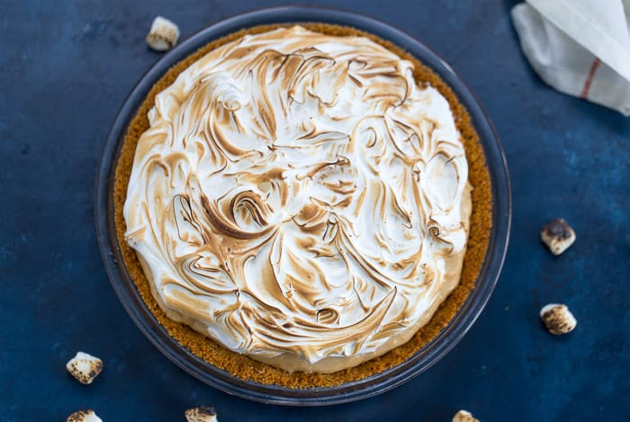 Peanut Butter S'mores Pie