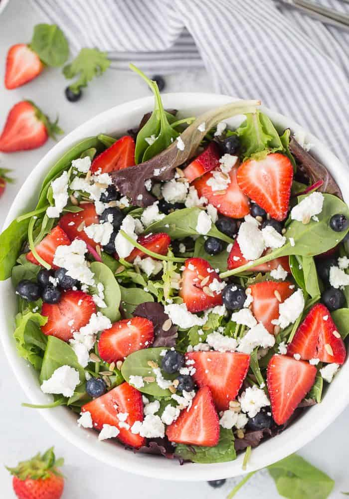 Mixed Berry Salad with Goat Cheese