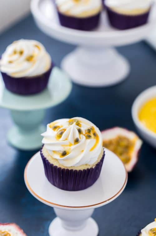 Tropical Passion Fruit Cupcakes