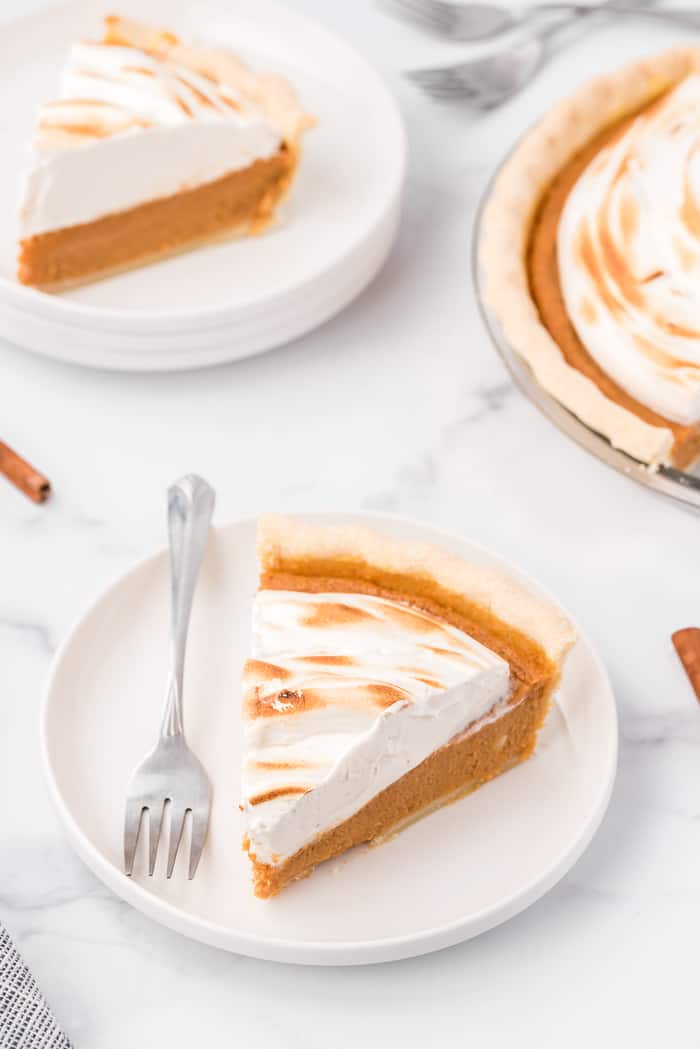 Sweet Potato Pie with Maple Marshmallow Topping