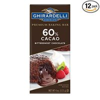 Ghirardelli Premium Baking Bar, 60% Cacao Bittersweet Chocolate, 4 Ounce (Pack of 12)