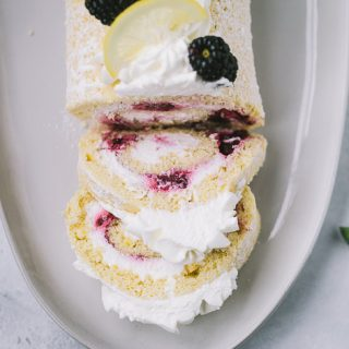 Blackberry Lemon Roll Cake