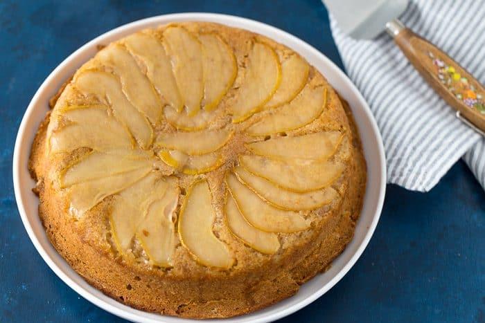 maple spiced pear cake