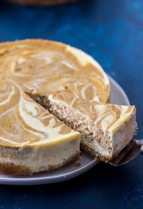 Swirled Pumpkin Cheesecake