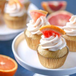 winter citrus cupcakes