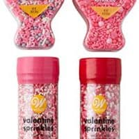 Wilton Valentine's Day Sprinkles Decorating Set, 4-Piece