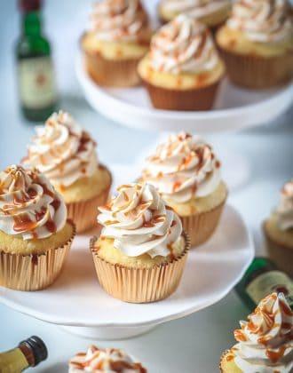 whiskey caramel cupcakes