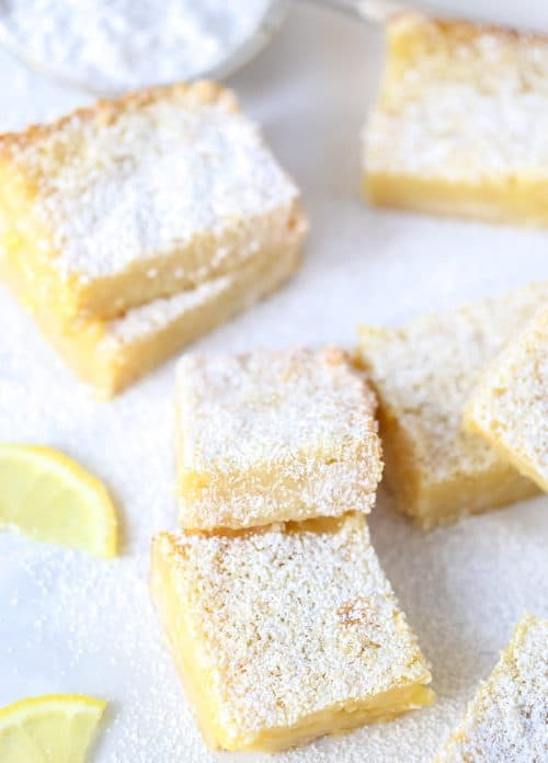 Classic Lemon Bars with Shortbread Crust