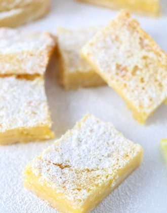Classic Lemon Bars with Shortbread Crust