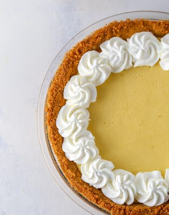 Passionfruit Pie with a Coconut Graham Cracker Crust