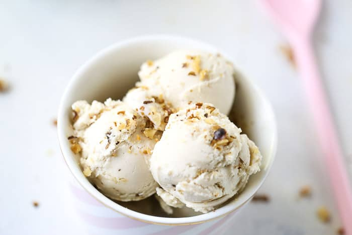 Banana Walnut Cheesecake Ice Cream