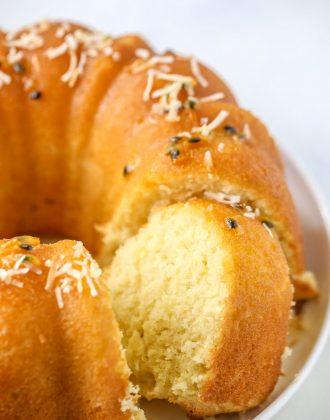 Passionfruit Coconut Bundt Cake