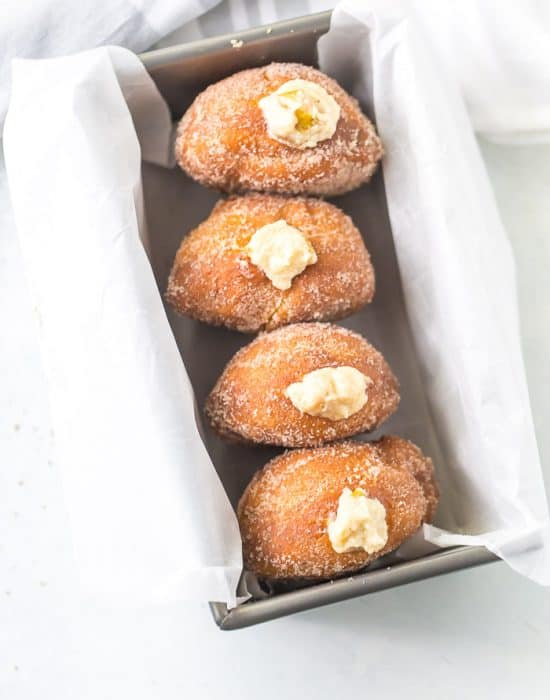 Caramelized Pears and Mascarpone Donuts