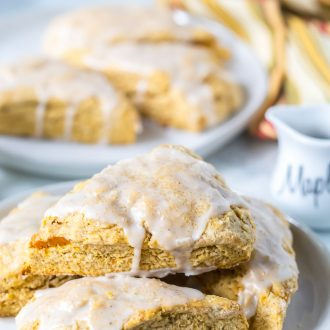 Sweet Potato Scones with Maple Icing