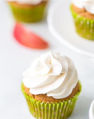 Apple Spice Cupcakes with Cinnamon Frosting